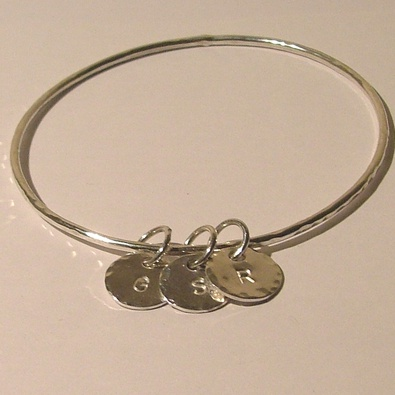 Image Delicate Bangle with 3 charms